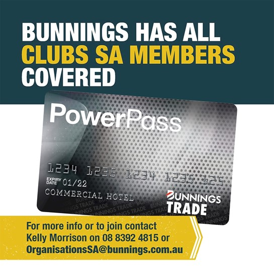 Bunnings Supporting Clubs in South Australia