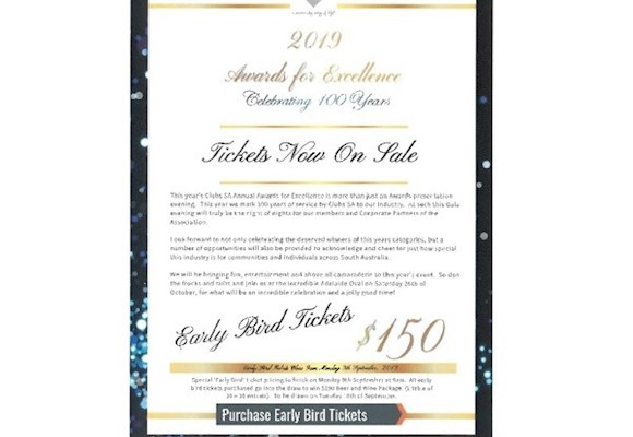 SA Awards for Excellence - Purchase Tickets Now