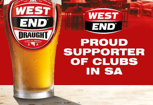 West End Draught - Proud Supporter of Clubs in SA